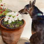 Smelling-the-flowers
